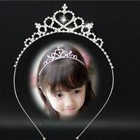 Lovely Glitter Crown Head/Hair Band Baby Infant Girls Rhinestone Princess Tiara