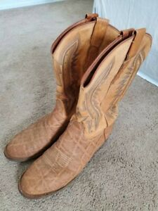 RARE Lucchese Mens Boots 10.0 D Elephant