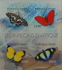 Butterflies of Africa butterfly Insects Burundi 2012 ms Sc.1207 BUR12613a IMPERF