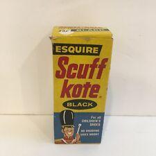 Vtg Esquire Scuff Kote Shoe Polish Original Box Circus Graphics 1950's Elep