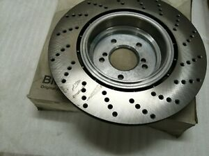 Original BMW M5 M6 04-10 Brake disc,ventilated,perforated,LH 370X24  34212282807
