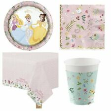 Disney Princess Party Pack for 16 Guests - Plates, Napkins, Cups & Tablecover