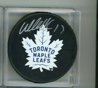 Wendel Clark Toronto Maple Leafs Signed Autographed Puck