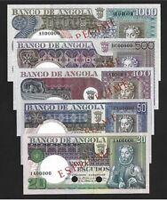 LOTE 40 - ANGOLA - PORTUGAL - COMPLETE SET - 1973 - 5 SPECIMENS - UNC