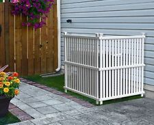 Outdoor Privacy Screen Panels Fence Divider Hide Air System Trash Can White S