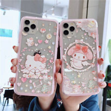 For iPhone 11 Pro XS MAX X 7 8+ Cute Pink cartoon Melody Kitty border phone Case
