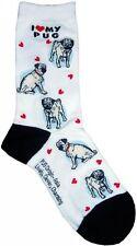 I Love My Pug (631098) Women Socks Cotton New Gift Fun Unique Fashion