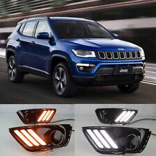 For 2017-up Jeep Compass Switchback LED Turn Signal Lamps Daytime Running Lights