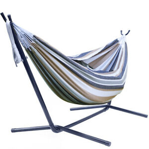 Sorbus Double Hammock with Steel Stand -  Two Person Adjustable Hammock Bed