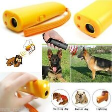 Ultrasonic Dog Training Device Anti Bark Barking Control LED Light Caravan AAA