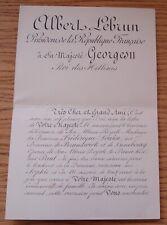 FRANCE PRESIDENT LEBRUN KING GEORG II OF GREECE BIRTH BABY PRINCE PAUL 1939