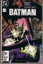 BATMAN #406 DC '87 ICONIC STORY YEAR ONE PART 3 FRANK MILLER & MAZZUCCHELLI VF+