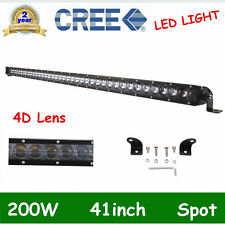 "SLIM 41"" 200W CREE Single Row Led Light bar Offroad Truck SPOT BOAT 4D LEN 40/42"
