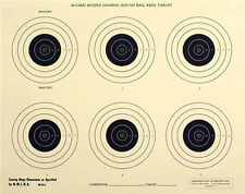 """(50) RB-50-6-8 Official 50-Yd NMLRA Round Ball Rifle Target [17.5"""" x 22""""] on tag"""