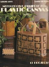 Needlepoint Projects ~ Placemat Sets Coasters & More plastic canvas pattern book