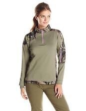 253c9e103038f 5549 Yukon Gear Women's 1/4 Zip Tech Fleece Jacket Mossy Oak Break Up Medium