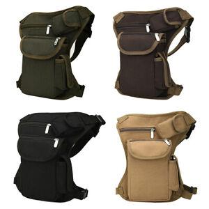 Outdoor Tactical Military Drop Leg Bag Panel Utility Waist Belt Pouch Bag B4