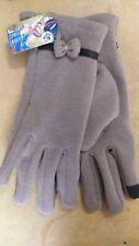 Guanti invernali donna per touch screen, taglia L, marrone chiaro