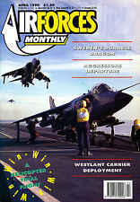 AIRFORCES MONTHLY 25 APR 1990 Longcast,Saab F-35 Draken,Aggressors,Lockheed U-2