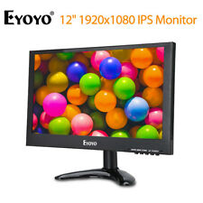 EYOYO 12pouces 1920x1080 IPS Moniteur BNC HD VGA AV Entrée vidéo USB pour caméra