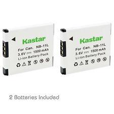 Kastar 2Pcs NB-11L Battery For Canon Digital IXUS PowerShot A4000 A2300 A2400 IS