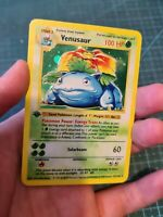 Handmade Proxy Venusaur Bisaflor in English Base Set Pokemon Card In Cosmo Holo