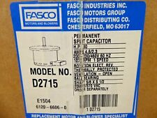 Fasco D2715 Motor .80 HP 200-230/460V 60Hz 1075 RPM 1 Speed