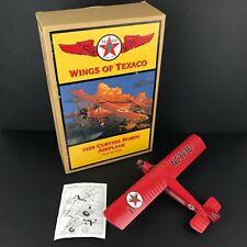 Wings Of Texaco ERTL Airplane Coin Bank 1929 Curtiss Robin Diecast Metal Gas Oil