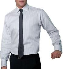 Men's Striped Regular Double Cuff Classic Fit Formal Shirts