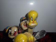 Lot de 6 petites cuillieres Ceramique Acier Looney tunes Warner Bros Titi et Taz