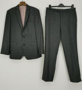 French Connection | 2 Piece Wool Suit | Size Jacket 40 Trousers 34 | Anchor Grey