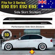 For BMW E90 E91 E92 3 Series M Performance Side Skirt 5D CARBON FIBER Sticker AU