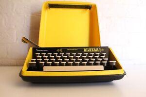 Bright Yellow & Black - Remington  Riviera Typewriter - Excellent Condition!