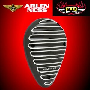 Arlen Ness FINNED HORN COVER Black 17-19 Indian Chief/Chiefton/Springfield