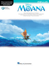 """MOANA"" INSTRUMENTAL PLAY-ALONG-CELLO MUSIC BOOK/ONLINE ACCESS-BRAND NEW ON SALE"