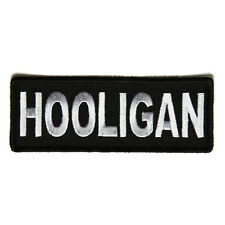 Embroidered Hooligan Sew or Iron on Patch Biker Patch