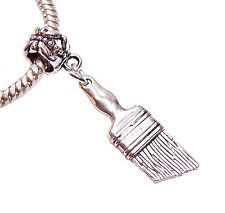 Paintbrush Painter Artist Paint Brush Contractor Charm for European Bracelets