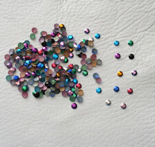 200 x 4mm Hotfix Metal Rhinestuds in 10 Mixed Colours, Iron On, AAA Quality