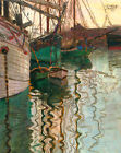 Egon Schiele Harbor of Trieste Giclee Canvas Print