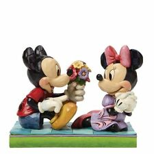 Disney Jim Shore Hallmark Mickey & Minnie I Picked This Just For You Figurine