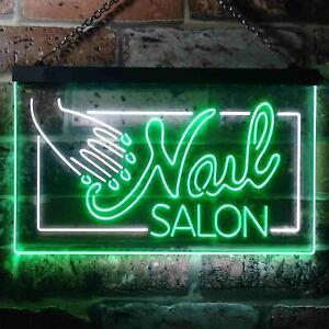 Nail Salon Display Dual Color LED Neon Sign st6-i3428