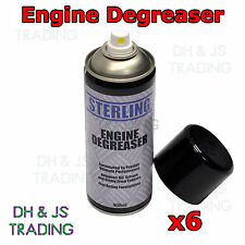 6 x Engine Degreaser Degreasant Spray Can Aerosol Grease Dirt Remover 400ml