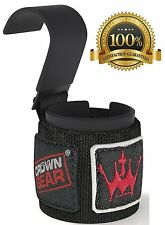 Weight Lifting Hook Straps Power Training Gym Grips Gloves Wrist Support Lift