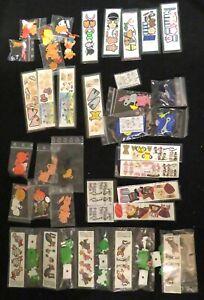 Ü-Ei Spielzeug viele Aufkleber auf der Folie 90er Jahre