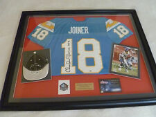 FRAMED SIGNED FOOTBALL JERSEY CHARLIE JOINER SAN DIEGO CHARGERS NFL HOF COA HAT