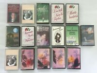 Bundle of 16 Romantic / Love Songs Audio Cassette Tapes, Job Lot, Romance Date