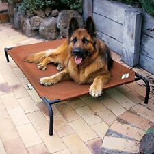 Coolaroo Elevated Pet Bed Dog Cot with Cool Knitted Fabric Large Orthopedic