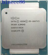 Intel Xeon E5-2667 V3 SR203 3.20GHz 8 Cores 135W 20M LGA 2011-3 CPUP rocessors