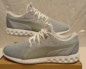 PUMA SOFT FOAM TRAINERS GREY WHITE TRAINER SIZE 9.5 EUR 44 WORN ONCE