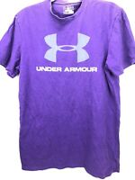 Under Armour Shirt Mens M Medium Loose Fit Purple UA Heat Gear Charged Cotton